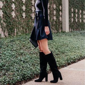 Sam Edelman caprice black suede knee high boots